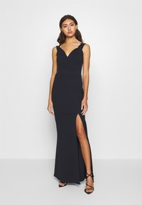 WAL G. - BARDOT MAXI DRESS - Vestido de fiesta - navy blue - 2