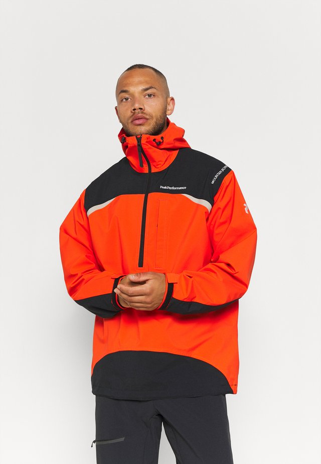 STOWAWAY ANORAK - Hardshell jacket - super nova black/celsian beige