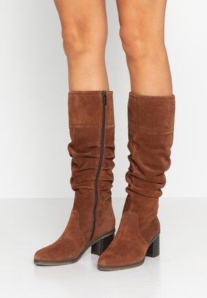 Boots - maroon
