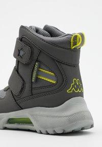 Kappa - SUPERCAL TEX UNISEX - Hiking shoes - grey/lime - 5