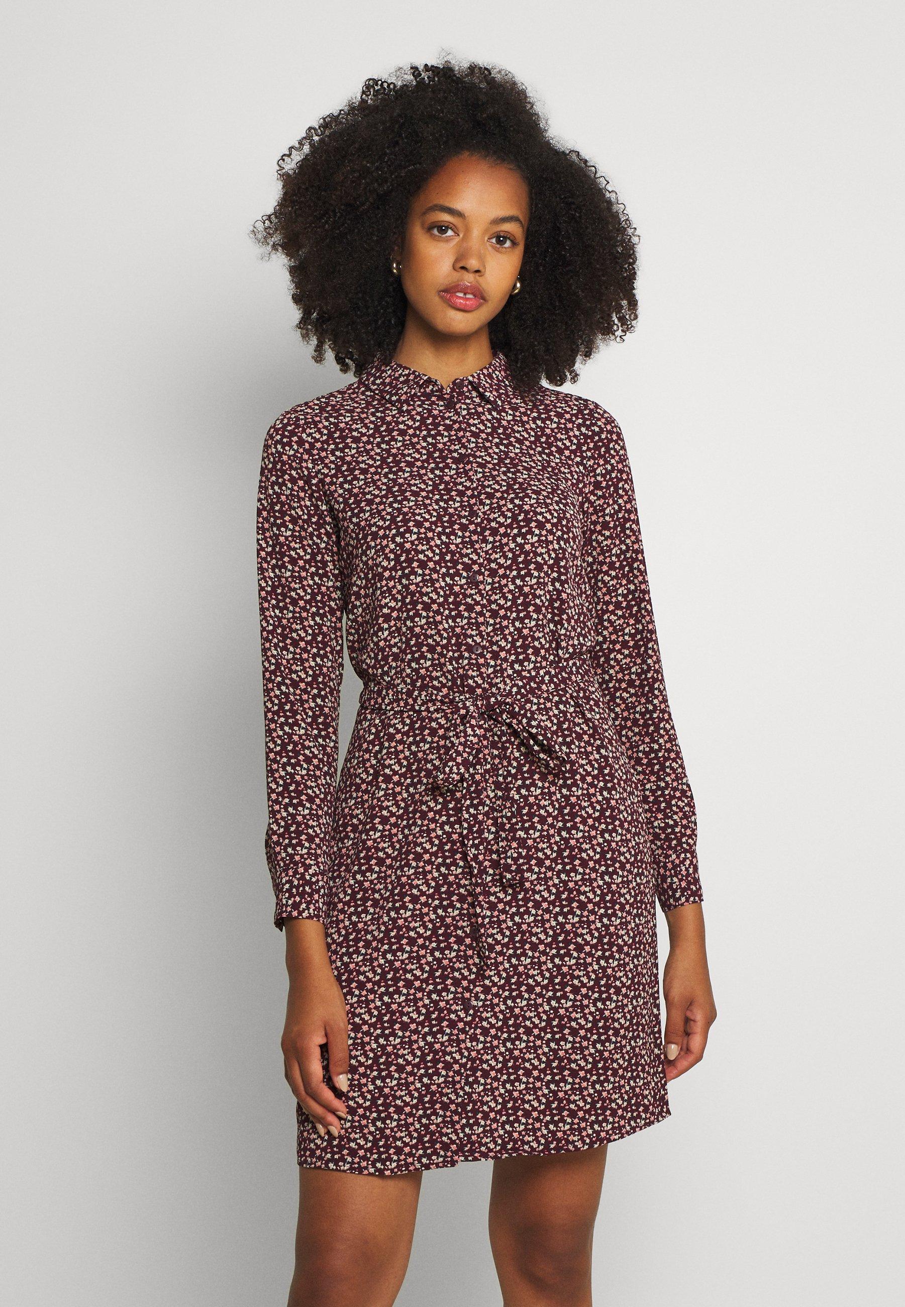 Donna VMSAGA COLLAR SHIRT DRESS  - Abito a camicia