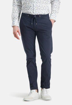 Trousers - dark-blue plain