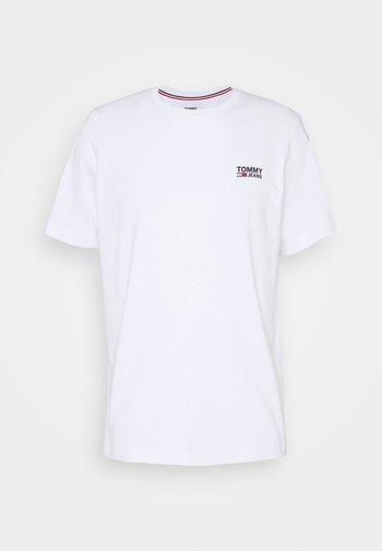 REGULAR CORP LOGO CNECK - T-paita - white