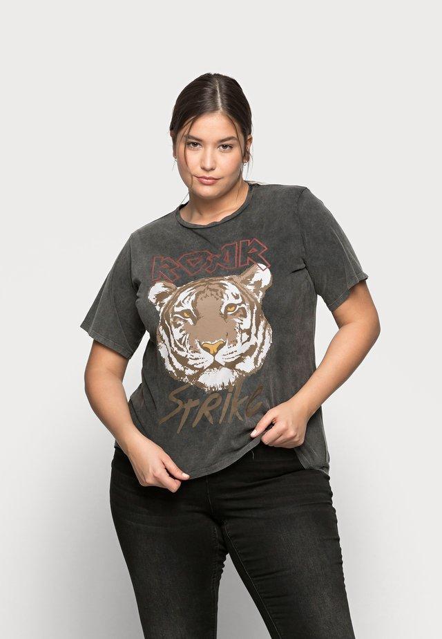 PCHANNA TEE - T-shirt print - black