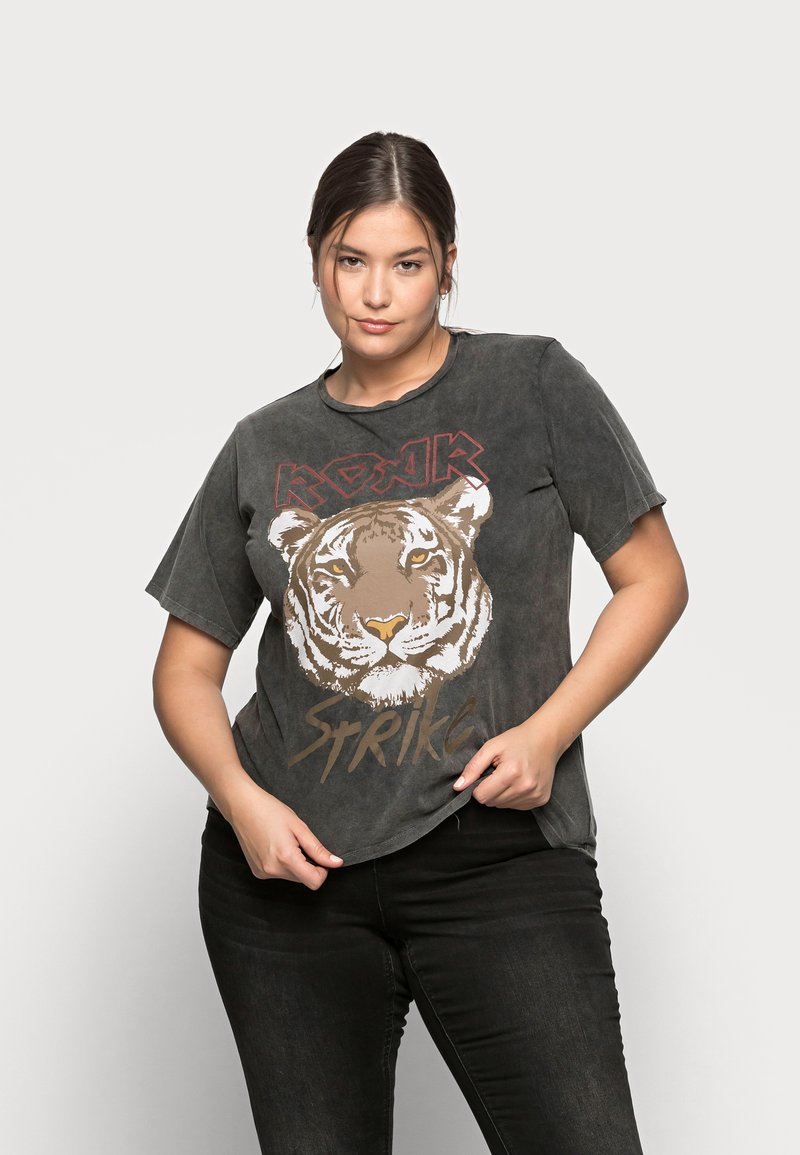 Pieces Curve - PCHANNA TEE - Print T-shirt - black