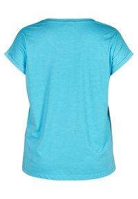 Zizzi - Basic T-shirt - turquoise - 4