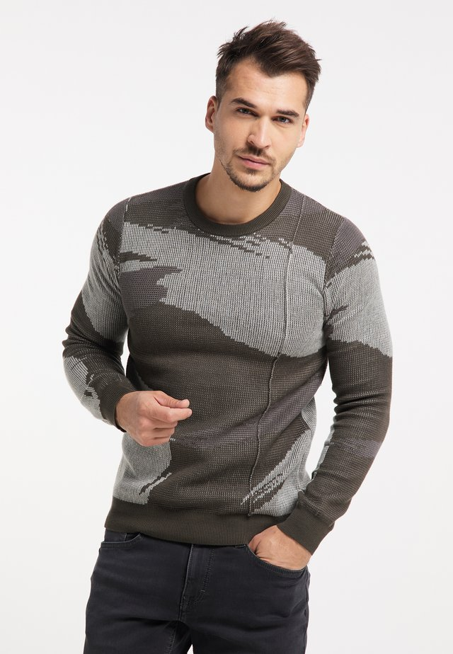 Sweater - oliv camouflage