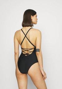 Marks & Spencer London - FLORAL PLACE - Swimsuit - black - 2