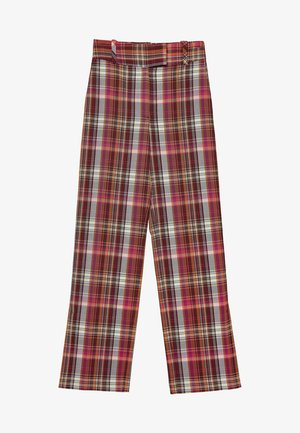 MIT BUNTEN KAROS - Trousers - red