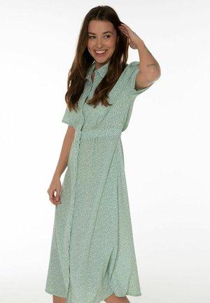 Košilové šaty - malachite