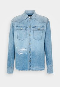 G-Star - WESTERN RELAXED  - Button-down blouse - destroyed denim - 5