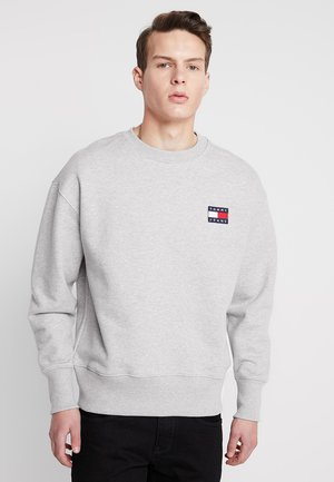 BADGE CREW UNISEX - Bluza - grey