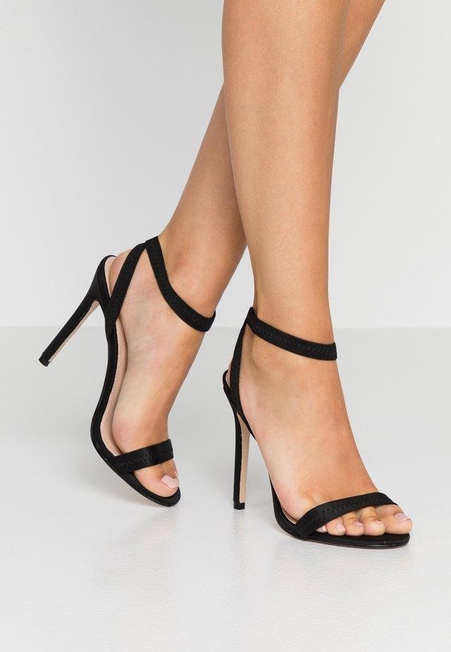 ABYSS - Sandály na vysokém podpatku - black