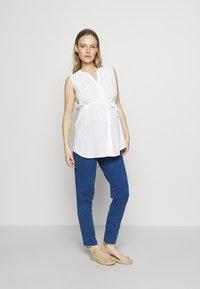 Gebe - TROUSERS FLORANCE - Kalhoty - indigo blue - 1