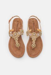 Tamaris - T-bar sandals - copper glam - 5