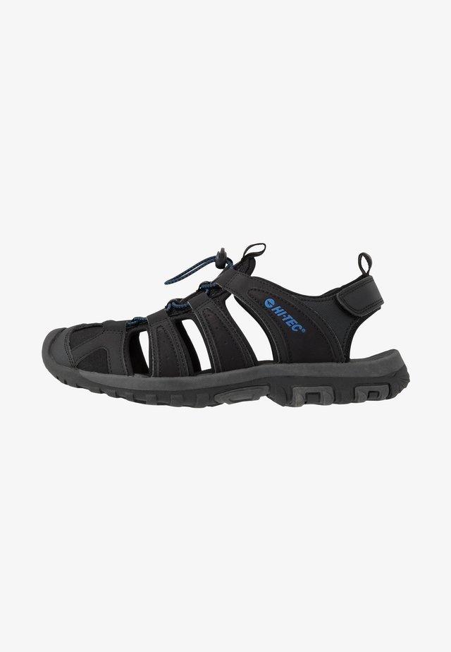 COVE BREEZE - Walking sandals - black/cobalt blue