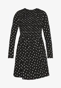 Denní šaty - black with white spot