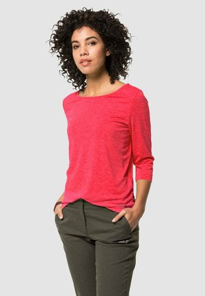 Long sleeved top - tulip red