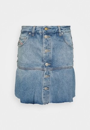 DE-BETHY SKIRT - Denim shorts - light blue denim