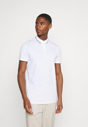 ALLOVERPRINTED POLO - Polo shirt - white