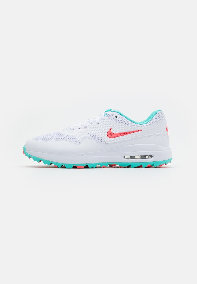 AIR MAX 1 G - Scarpe da golf - white/hot punch/aurora green