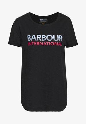 SPITFIRE TEE - Print T-shirt - black