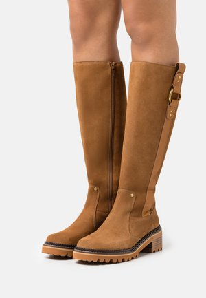 ERINE - Vysoká obuv - tan