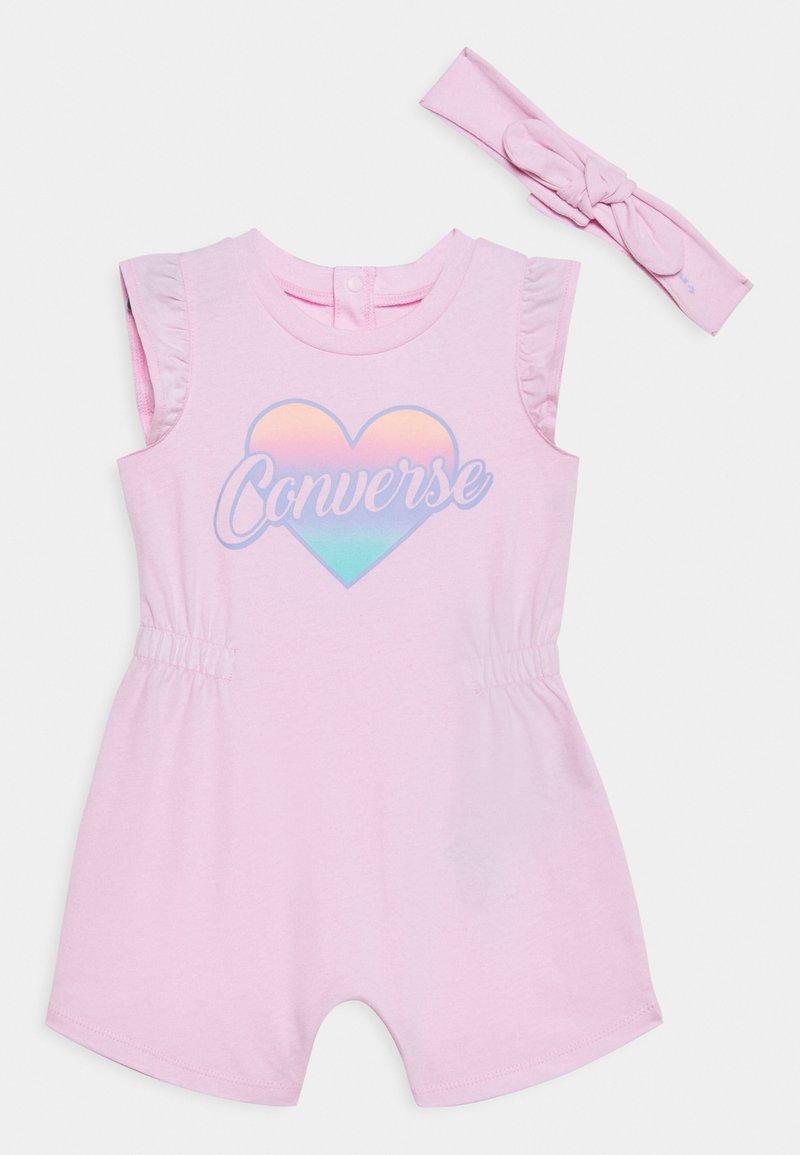 Converse - CINCHED WAIST ROMPER - Overal - pink foam