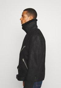 AllSaints - TERRO BIKER - Leather jacket - black - 5