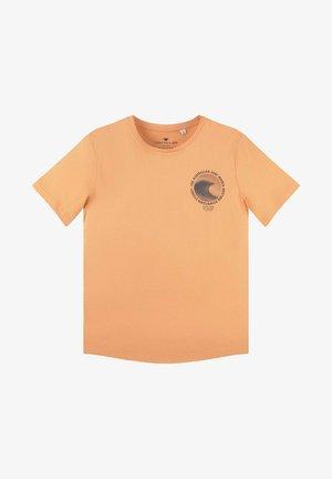 T-shirt print - washed neon orange orange
