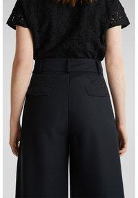 Esprit Collection - FASHION CULOTTE - Trousers - black - 6