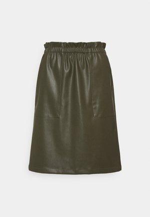 CUMELISSA - A-line skirt - burnt olive