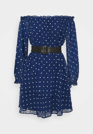 DRAPY  - Day dress - blue/white