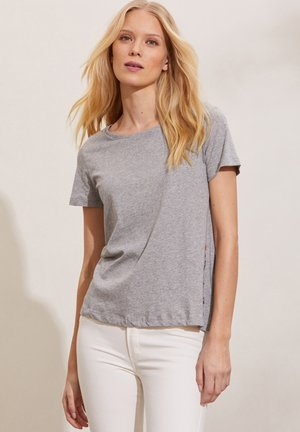 DAPHNE - Print T-shirt - grey melange