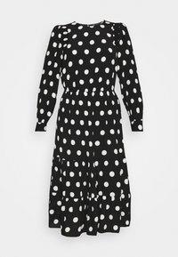 Marks & Spencer London - SPOT VOLUME MIDI - Day dress - black - 4