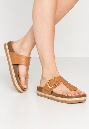 SKYYE - T-bar sandals - cognac