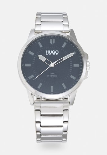 FIRST - Watch - silver-coloured/blue