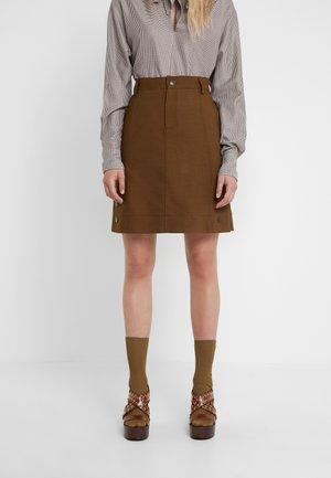 A-line skirt - smoked brown