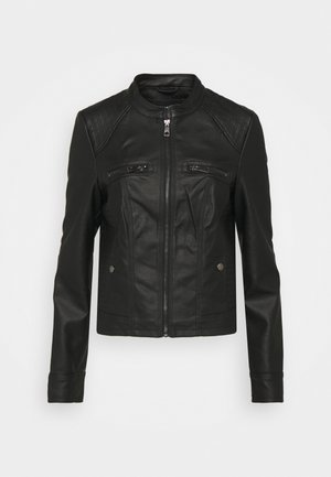 VMTEXAS SHORT COATED JACKET - Imitatieleren jas - black