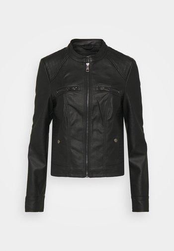 VMTEXAS SHORT COATED JACKET - Faux leather jacket - black