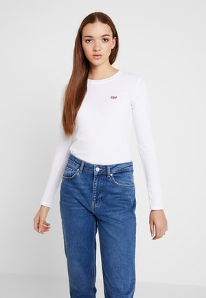 LS BABY TEE - Long sleeved top - white