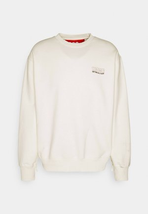 GLOW IN THE DARK CREWNECK - Mikina - natural white