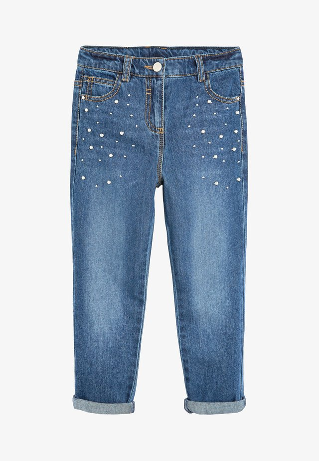 MID BLUE PEARL EMBELLISHED MOM JEANS (3-16YRS) - Jean droit - blue