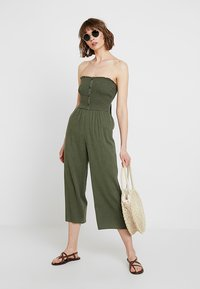 Hollister Co. - BUTTON FRONT - Overal - olive - 2