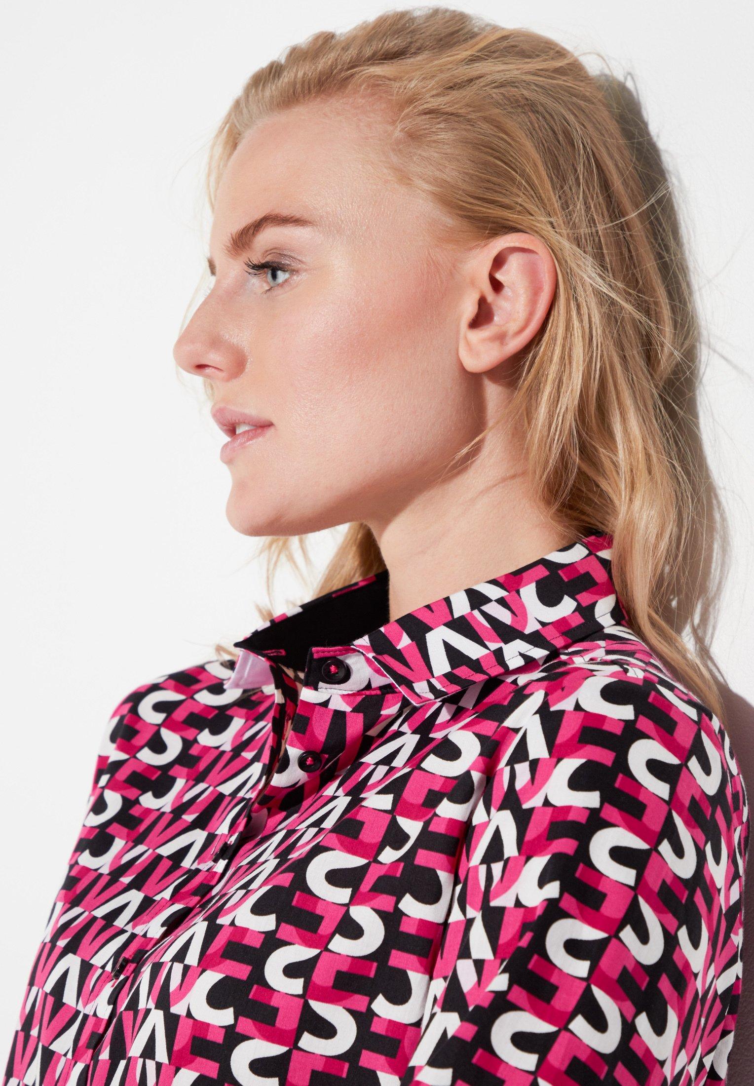 Eterna MODERN CLASSIC - Overhemdblouse - pink/schwarz/weiss - Dameskleding Origineel
