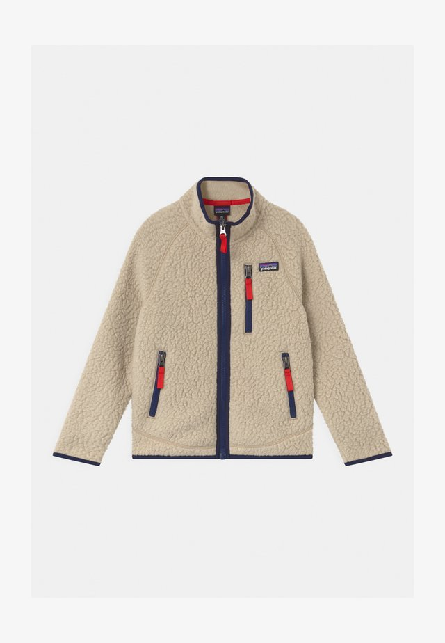BOYS RETRO PILE - Fleecejacke - beige