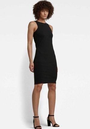 RIB TANK DRESS SLIM - Jumper dress - dk black