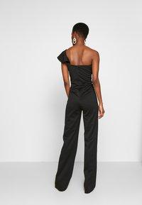 True Violet Tall - FRILL ONE SHOULDER - Tuta jumpsuit - black - 2