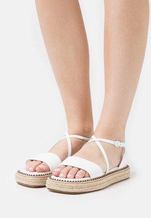 VALLO - Platform sandals - bianco