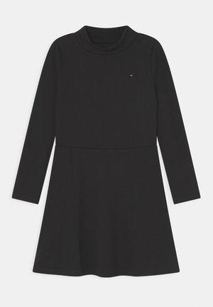 MOCK NECK SKATER DRESS - Jersey dress - black